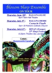Image of poster with harp ensemble upcoming tour